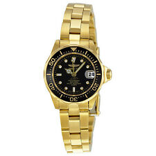Invicta Pro Diver Gold-plated Black Dial Ladies Watch 8943