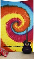 Tie Dye Psychedelic Tapestry Throw Indian Hippie Wall Hanging Bohemian Decor Art