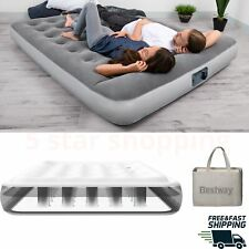 """12"""" Full Size Air Inflatable Mattress Built in Ac Pump Camping full body support"""