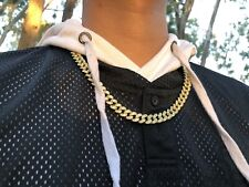 Iced 14K Gold Cuban Necklace