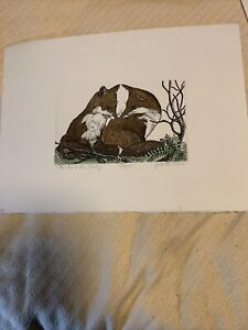 """""""The fox and the Lady"""" signed snd numbered print by judith hall"""
