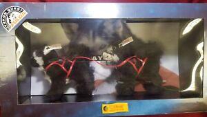 Steiff Black Husky set YUKON QUEST FULDA NIB LE 038631 15cm Musher set