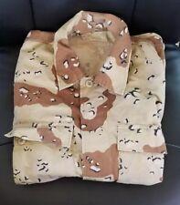 US Army Desert Military Cargo Fatigue Jacket Coat Camouflage Camo