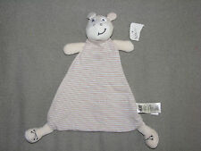 H&M BABY COW HIPPO STRIPE COMFORTER BLANKET BLANKIE HUG SOOTHER SOFT TOY LOVEY