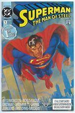 SUPERMAN THE MAN OF STEEL #1 July 1991 NM/MT 9.8 W 1st App CERBERUS ERADICATOR