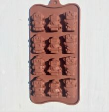 Easy Robot Silicone Chocolate/Candy Mold Holiday Baking Dessert Pastry 12-cup