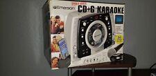 EMERSON KARAOKE MACHINE CD+G GP398 BRAND NEW MICROPHONE IPOD DOCK PLUS 30 SONGS