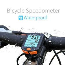 Wireless Bike Cycling Bicycle Cycle Computer Odometer Speedometer Backlight