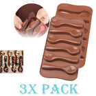 Set of 3 Silicone Mold Spoon Shape Candy Ice cube Tray Chocolate DIY Cupcake