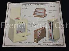 R147 Affiche Scolaire Cuisiniere radiateur appareil electrique domestique 91*75