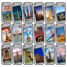 Personalised Glass Back Case for iPhone 6 6s 7 8 PLUS X XS MAX XR / LANDMARKS