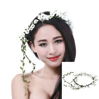 1pcs Boho Ladies Garland Hairband White Flower Festival Party Wedding Headband