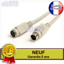Cable prolongateur/rallonge clavier souris PS2 male/femelle beige 6 mètres