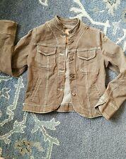 Christopher Blue Brown Womens Stretch Denim Jean Jacket Vintage Small