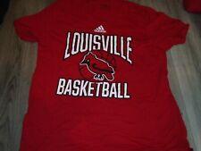 Louisville Cardinals Basketball team issued red shooting shirt Xl D Sutton