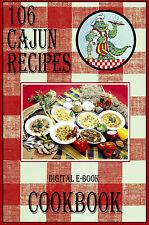 106 Delicious Cajun Recipes E-Book Cookbook CD-ROM