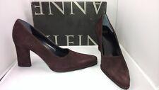 Designer Anne Klein Plum Suede Park Heels Pumps Women's Shoe's Size 8 M