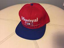 Vintage 90s MONTREAL CANADIENS SnapBack Hat NEW NHL Baseball Cap Canadian