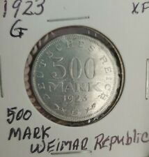 1923G -Germany 500 Mark: - Weimer Republic: Inflationary Currency - Nice Strike