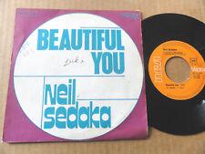 "DISQUE 45T DE NEIL SEDAKA  "" BEAUTIFUL YOU """
