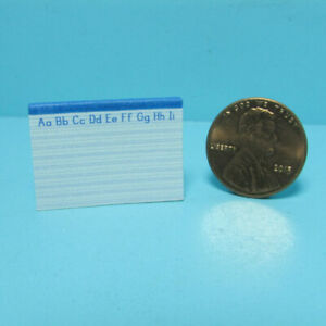 Dollhouse Miniature Replica School Penmanship Pad Real Pages and Lined HR56120