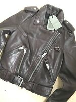 "ALL SAINTS WOMEN'S OXBLOOD RED ""GIDLEY"" LEATHER BIKER JACKET - UK 6 - NEW & TAGS"