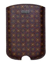 NEW $150 DOLCE & GABBANA Phone Case Cover Bordeaux Pattern Leather  Blackberry