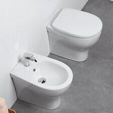 Sanitari Filo parete Pratica Ceramica Azzurra WC + BIDET + SEDILE in OFFERTA fil