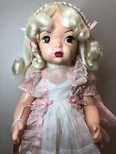 16� Terri Lee Platinum Blonde With Braids Reproduction Beautiful Dress #S