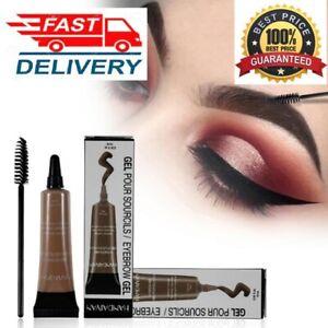 Black Chocolate Henna Tattoo Paint Eyebrow Gel Makeup Kit Waterproof Eye Brows