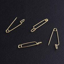 10 épingle à nourrice sûreté broche goupille sécurité porte étiquette doré 25mm