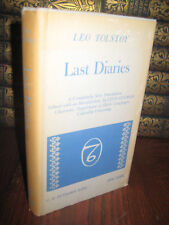 Last Diaries Leo Tolstoy New Translation 1st Edition Thus