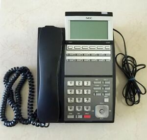 NEC DLV(XD)Z-Y(BK) IP3NA-12TXH TEL(BK) Phone Black Excellent **90 Day Warranty**