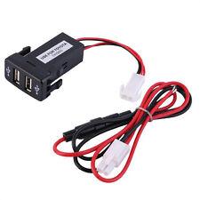 Car 12V 24V To 5V 3.1A Dual USB Ports Dashboard Mount Charger For TOYOTA