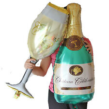 Champagne balloon bottle drink glas new years cheers  fete party  balloons
