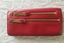 Cole Haan Red Leather Bi Fold Wallet EUC