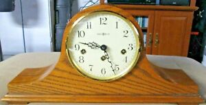 Howard Miller 2 Jewel Mantle Clock  #340-020 With Key Works & Chimes Great