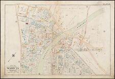 1896 ROXBURY, BOSTON, MA., EMANUEL EPISCOPAL CHURCH, G.W. BROMLEY COPY ATLAS MAP