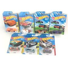 New Sealed Hot Wheels Toy 7 Car Lot Including Ultra Rage Twin Mill Fiat 500