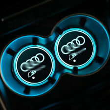 2PCS Colorful LED Car Cup Holder Pad Mat for Audi S-Line Auto Atmosphere Lights