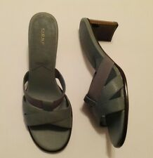 Women's Ladies Green Textured Straps open Heels open Toe Shoe Sandals Size 9
