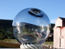 """5,5"""" BJÖRKSHULT marked Swedish light grey Glass Fishing Float Ball"""