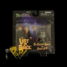 LOST in SPACE Minimates Dr Zachary SMITH & B-9 ROBOT Action Figure 2-PACK New!