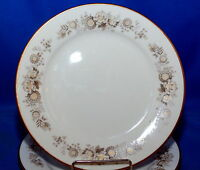 Vintage Noritake Ivory China Virginia Floral Gold Accent Luncheon Plate