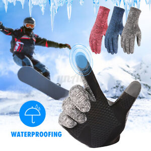 Winter Fleece Warm Waterproof Gloves Touch Screen Windproof Cycling