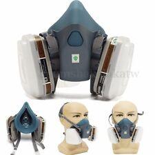 3M 7502 Respirator Paint Spray Gas Dust Mask Organic Vapor Cartridges Filter New