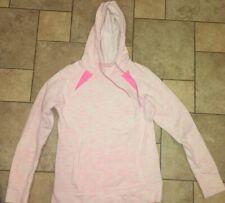 TEk Gear Pink White Womens Hoodie Dipdye Sweatshirt SZ Medium With Pockets