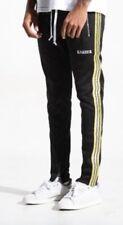 Karter Track Pants  Black Gold Black Men Size 2xLarge