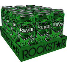 12 Dosen Rockstar Revolt Killer Citrus grün a 500ml inc. Pfand Neu