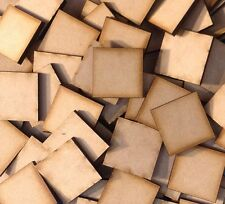 5x 50mm Square MDF Wooden Bases Laser Cut Crafts FAST SHIPPING US SELLER